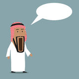 Shocked arab businessman with wide open mouth Royalty Free Stock Photo