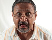 Shocked Asian Man Royalty Free Stock Photography