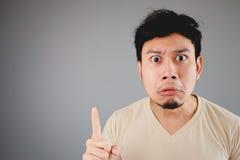 Shocked Asian man. Stock Photography