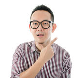 Shocked Asian man Royalty Free Stock Photos