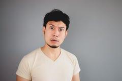 Shocked Asian man. Stock Photo