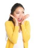 Shocked Asian woman Royalty Free Stock Photo