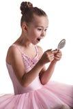 Shocked ballerina Stock Images