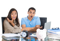 Shocked at bills couple Stock Images