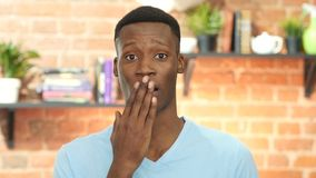 Shocked Black Young Man, Gesture of disaster stock footage