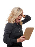Shocked blond woman. Stock Images