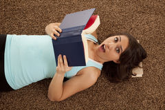 Shocked book Royalty Free Stock Photography