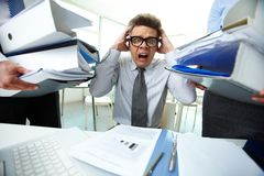 Shocked bookkeeper Royalty Free Stock Images