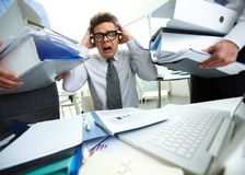 Shocked bookkeeper Stock Image