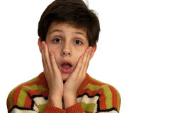 Shocked boy Royalty Free Stock Photos