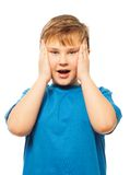 Shocked boy Royalty Free Stock Image