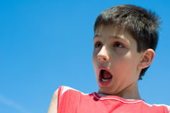 Shocked boy Royalty Free Stock Photography