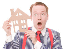 Shocked business houseowner Royalty Free Stock Images