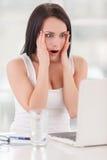 Shocked business lady. Stock Image