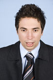 Shocked business man Royalty Free Stock Photography