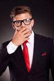 Shocked business man Royalty Free Stock Photos