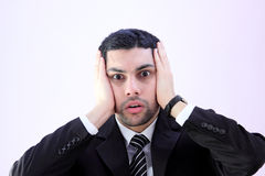 Shocked business man Royalty Free Stock Image