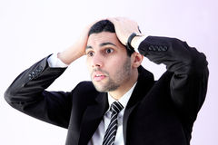 Shocked business man Royalty Free Stock Images