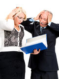 Shocked business people Stock Photography