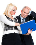 Shocked business people Royalty Free Stock Photo