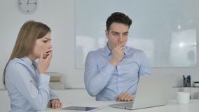 Shocked Business People Wondering in Awe at Work. 4k high quality, 4k high quality stock footage