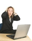 Shocked business woman! Stock Photo