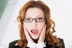 Shocked business woman Royalty Free Stock Photography