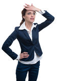 Shocked business woman stock photography