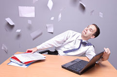Shocked businessman Stock Photo