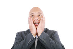 Shocked businessman Stock Images