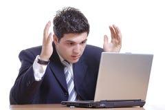 Shocked businessman royalty free stock photo