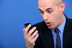 Shocked businessman Royalty Free Stock Images