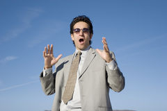 Shocked businessman Stock Photography