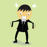 Shocked businessman. With the incident Stock Images