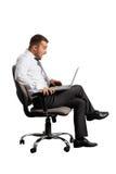 Shocked businessman looking at laptop Royalty Free Stock Image