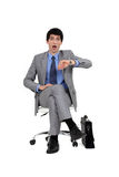 Shocked businessman Royalty Free Stock Photos