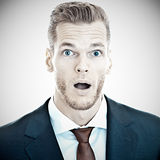 Shocked businessman Royalty Free Stock Photo