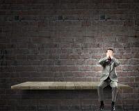 Shocked businessman Stock Image