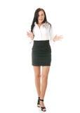 Shocked businesswoman. Isolated on white background Royalty Free Stock Image