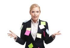 Shocked businesswoman Royalty Free Stock Photography
