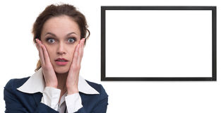 Shocked businesswoman Royalty Free Stock Photo