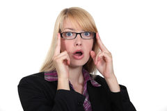 Shocked businesswoman Stock Images