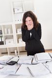 Shocked businesswoman Stock Photography
