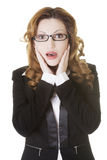 Shocked businesswoman Royalty Free Stock Image