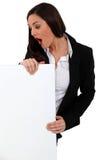 Shocked businesswoman Stock Photo