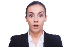 Shocked businesswoman. Royalty Free Stock Images