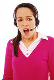 Shocked call centre worker Stock Photography
