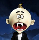Shocked Cartoon Vampire Stock Photography