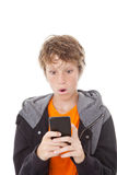 Shocked cell or mobile phone Royalty Free Stock Image
