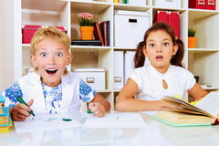 Shocked children Royalty Free Stock Photo